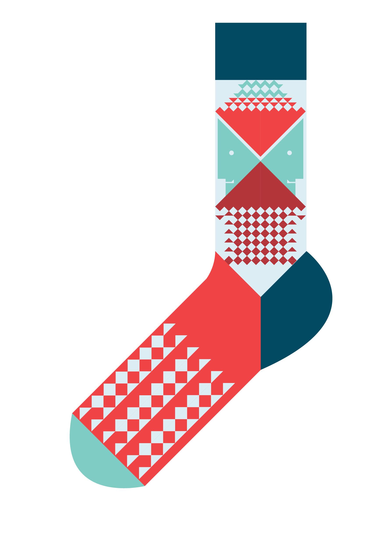 Sock Template Illustrator Sock 2 by marcus marritt