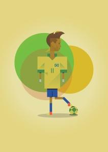 Neymar print by Marcus Marritt